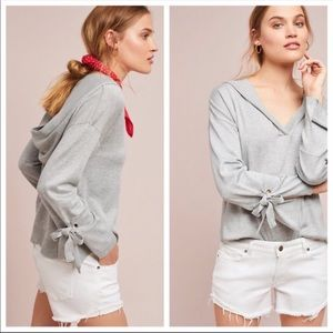 Anthropologie Moth Amelie Hooded Sweater Grey XS